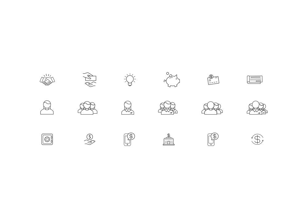 Création pictogrammes Advans Group
