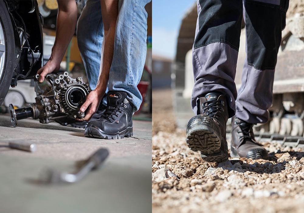 Photo reportage chaussure de sécurité Gaston Mille