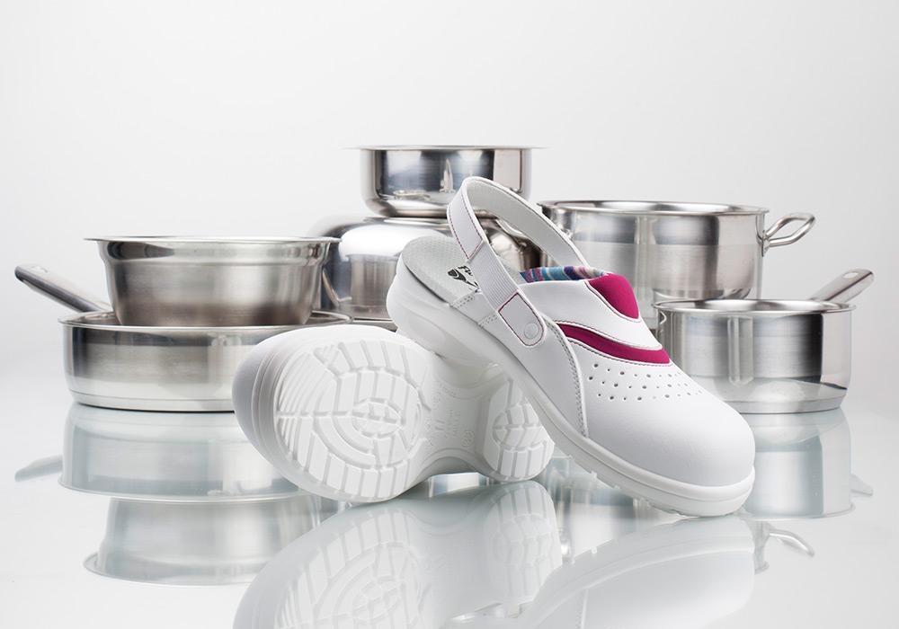 Photographie studio chaussure de sécurité gamme hygiène Gaston Mille