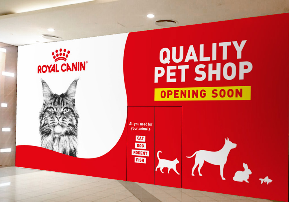 vitrine animalerie Royal Canin