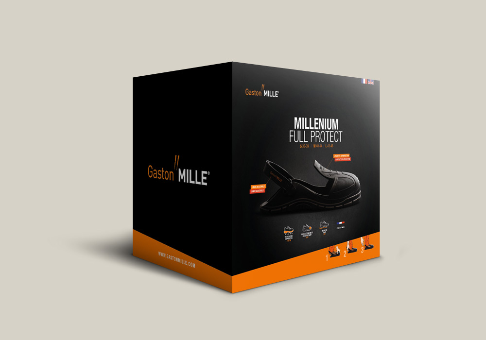 packaing boite chaussure Millenium Full Protect Gaston Mille