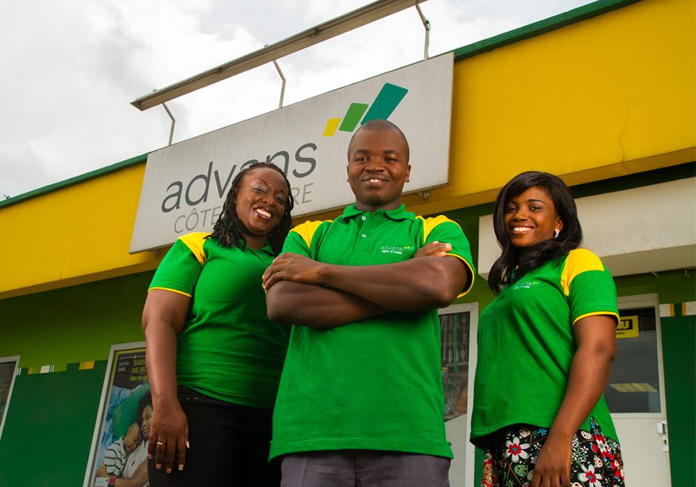 Création identité Advans Côte d'Ivoire