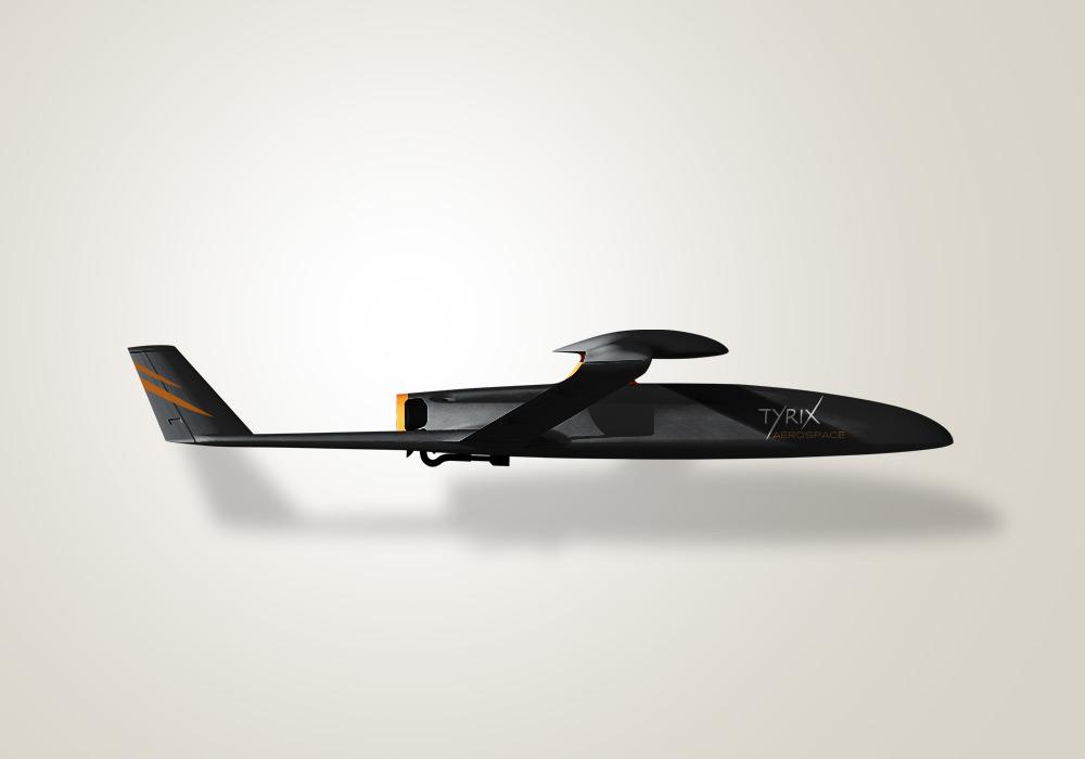 Habillage de drone identité visuelle Tyrix