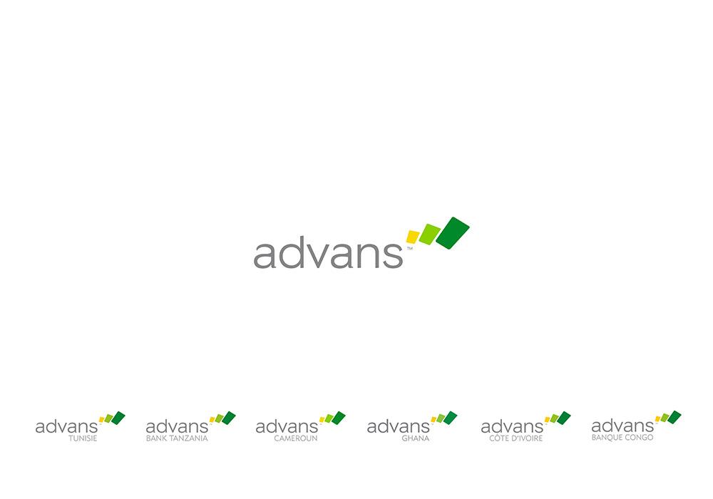 Création d'identité Advans Group et logotypes filiales