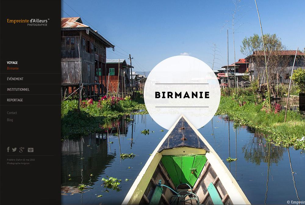Page Birmanie site Web Empreinte d'Ailleurs