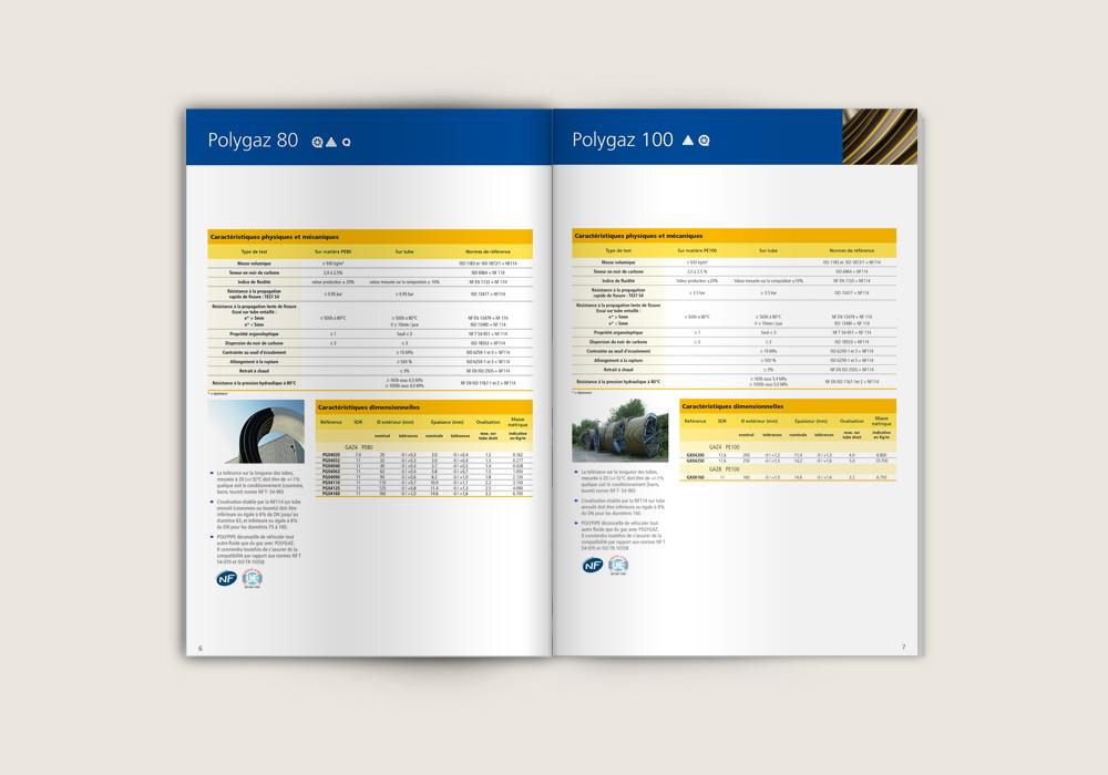 maquette graphique intérieur brochure Polypipe