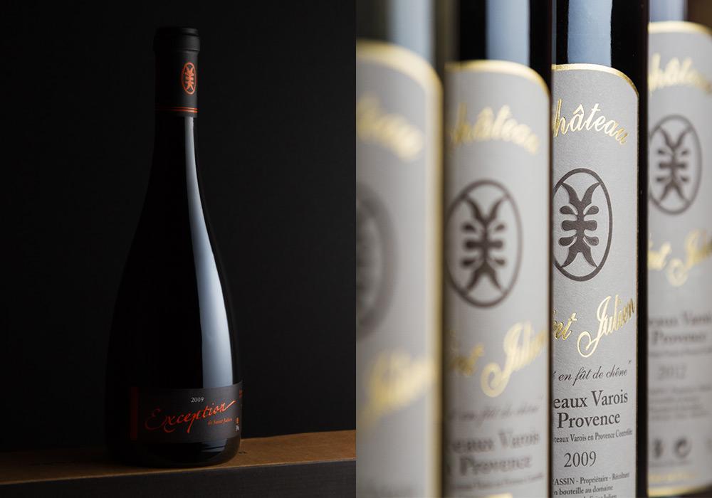 Montage photo gamme de vins Domaine Saint-Julien