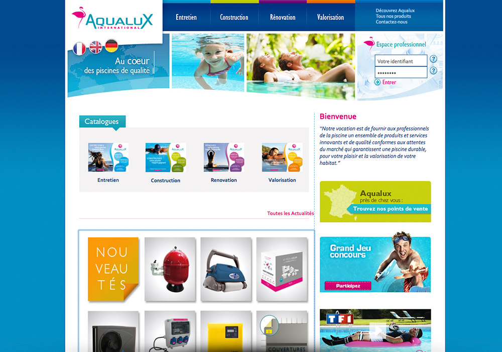 catalogue en ligne Aqualux