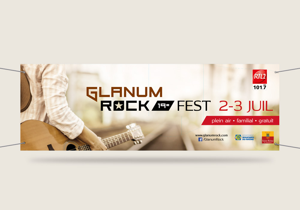 bâche grand format Glanum Rock