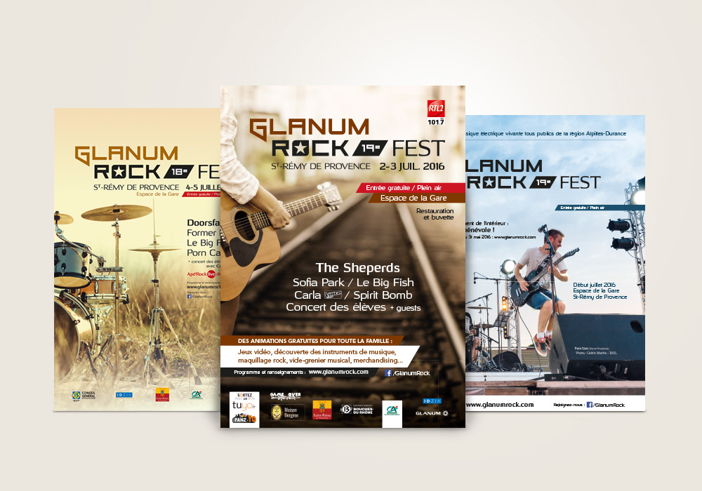 affiches festival Glanum Rock