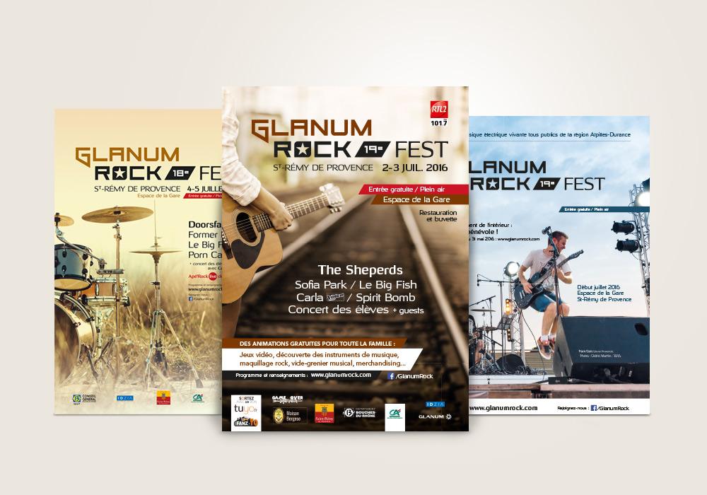 affiches festival Glanum Rock