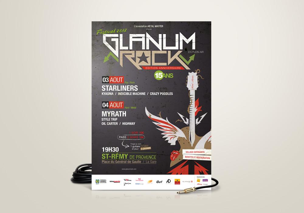 Affiche Festival Glanum Rock