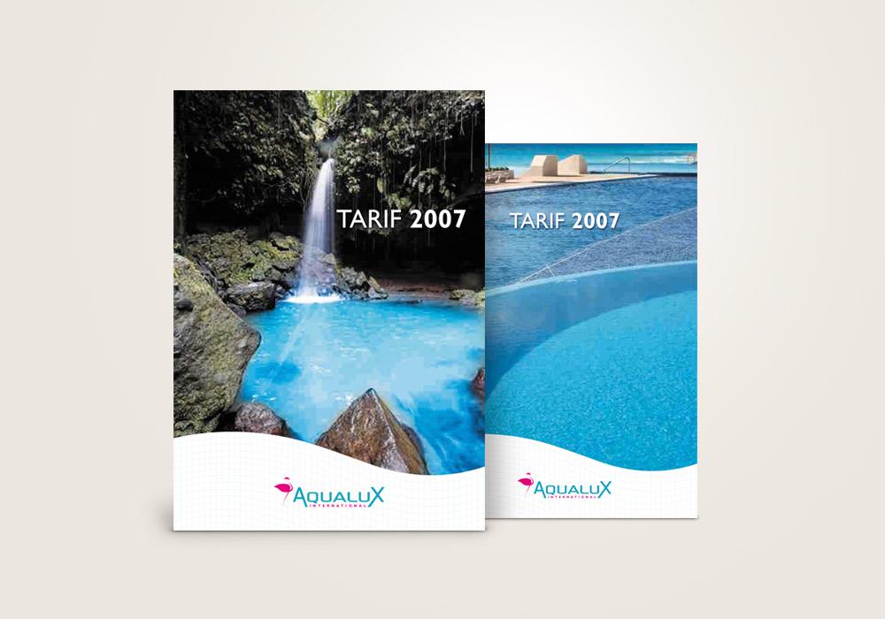 Edition : création de brochure tarifs Aqualux