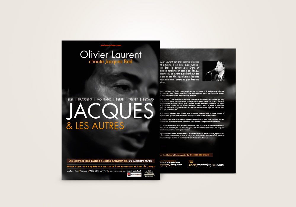 Flyer Olivier Laurent Richard Walter Production