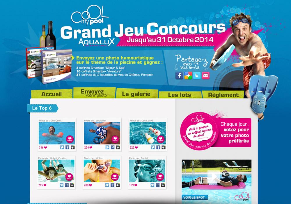 Site Web jeu-concours Aqualux