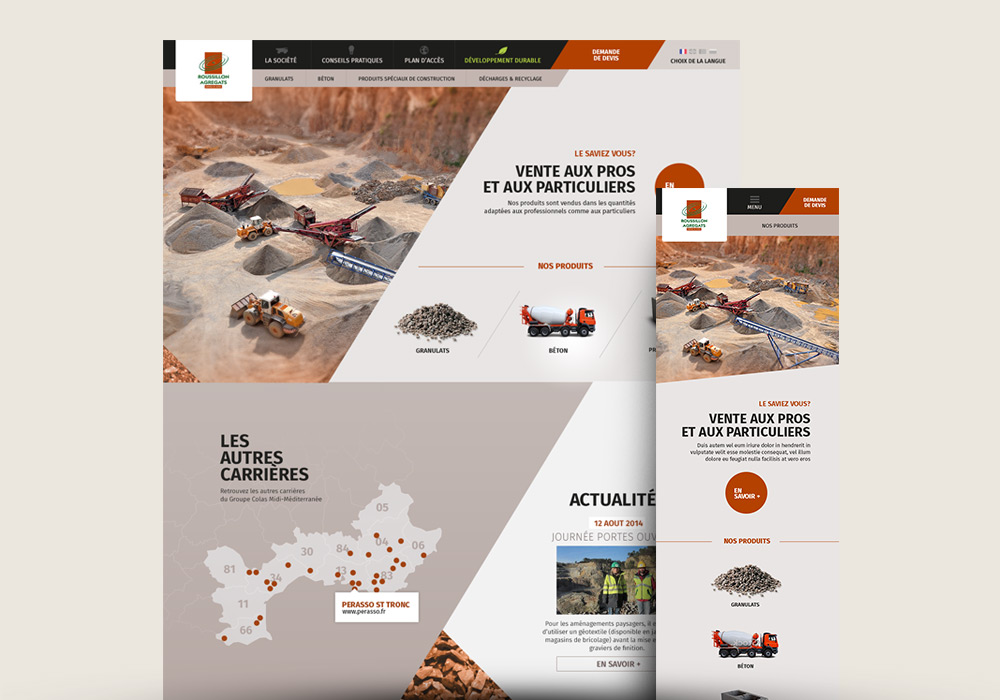 Site internet responsive design Colas