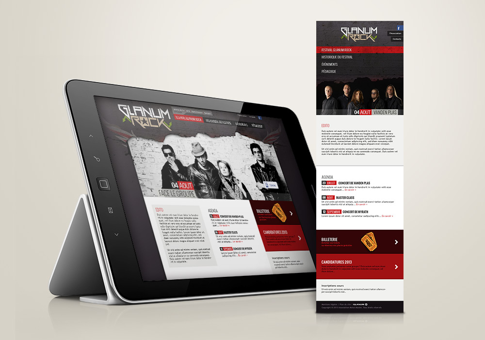 Ste Internet responsive design Glanum Rock