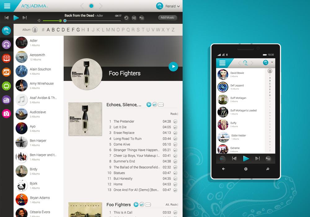 Webdesign interface graphique responsive Aquadima