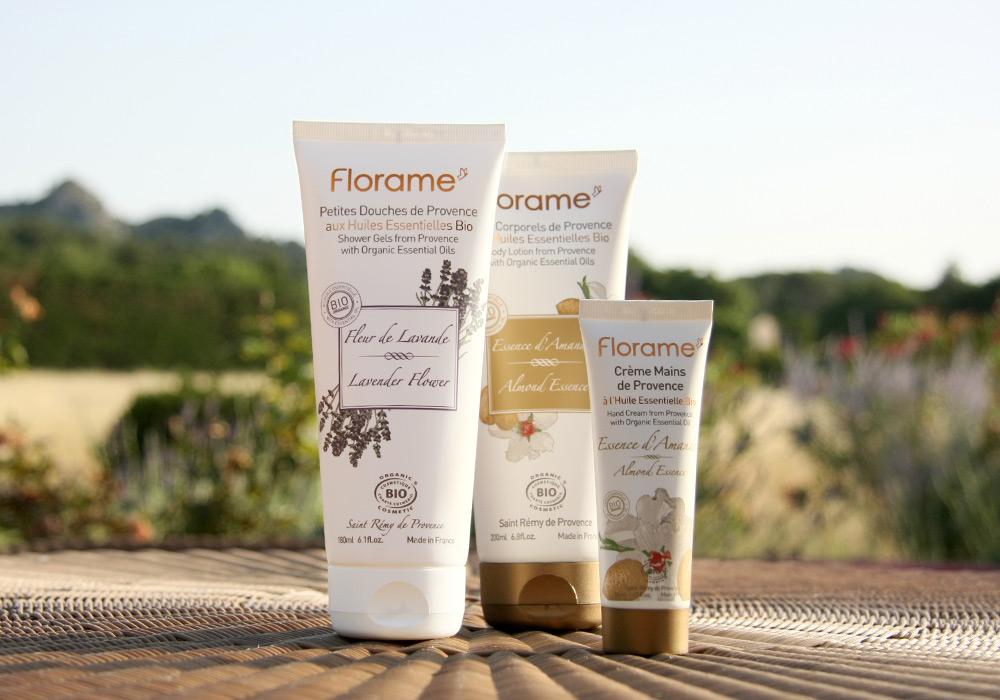 Packshot gamme cosmétique Florame