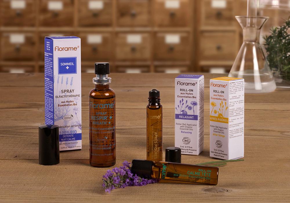 packshot gamme olfactothérapie Florame