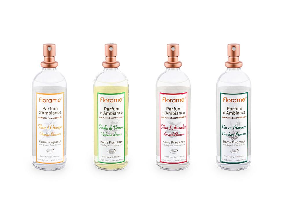 Florame Packshot pulverisateurs de parfum d'ambiance
