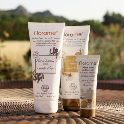 Photographie gamme produits cosmétiques Florame