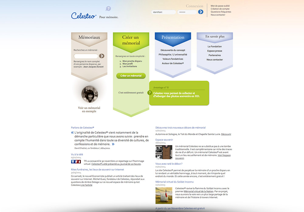 Création site internet Celesteo