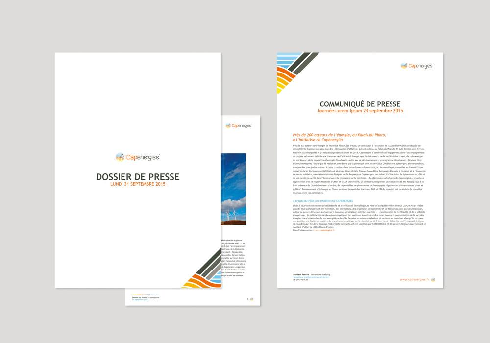 Edition brochure dossier de presse Capenergies