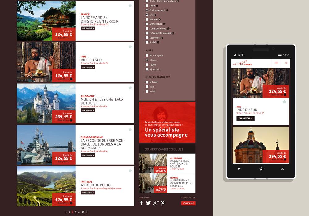 Webdesign responsive site Internet Envol Espace