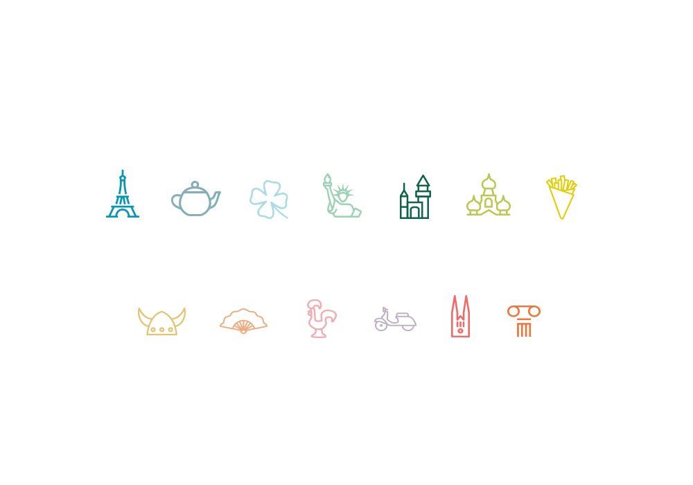 Collection de pictogrammes Envol Espace