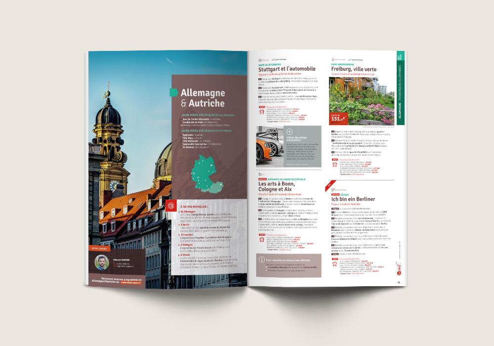 Intérieur de la brochure de voyages scolaires Envol Espace