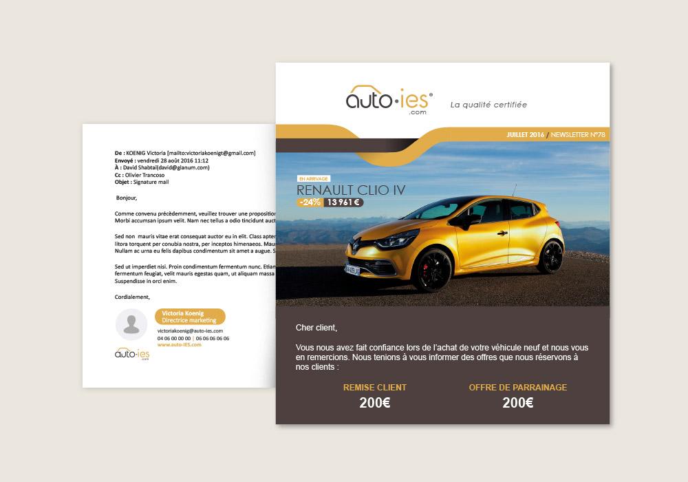 modèle de newsletter Auto-ies.com