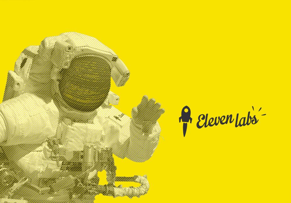 Element graphique d'identité astronaute Eleven Labs