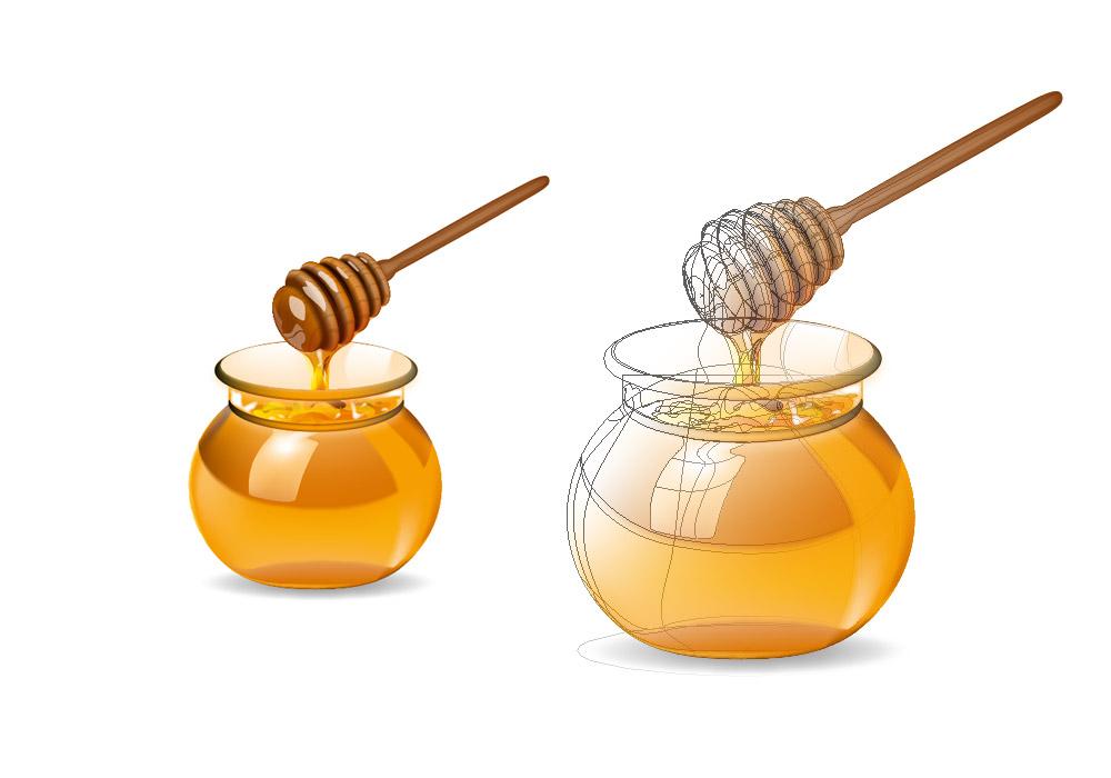 Illustration vectorielle miel Nutrimilk