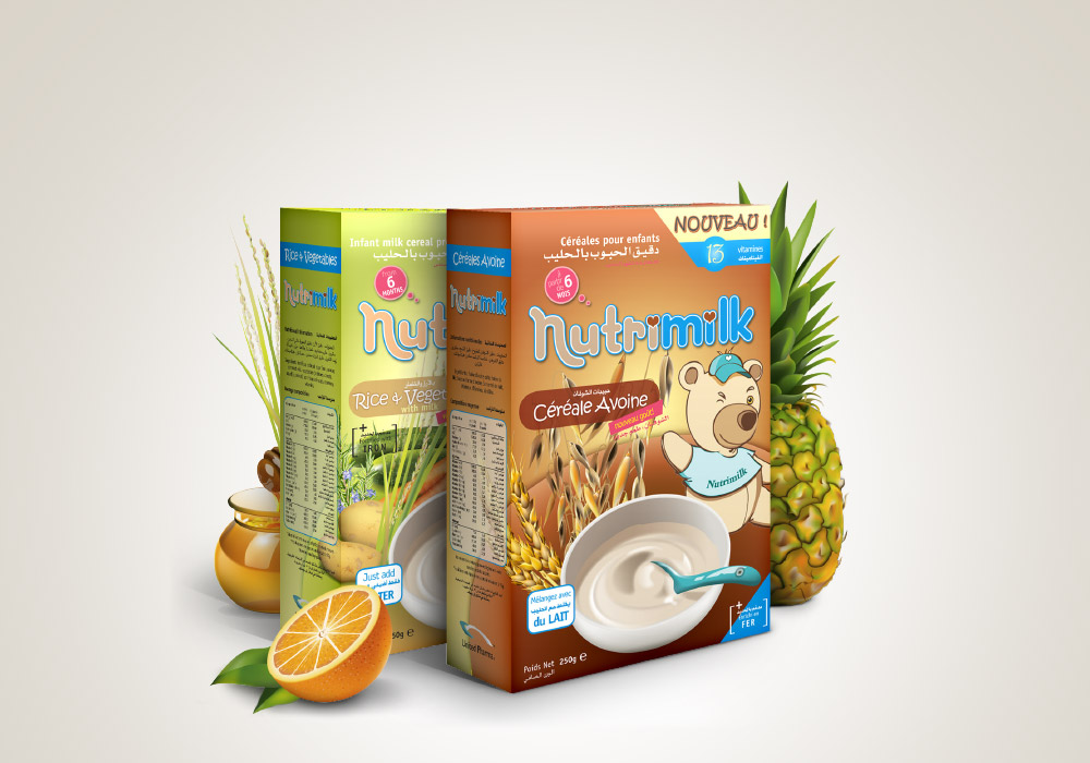 Packaging boites céréales Nutrimilk