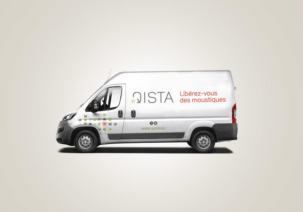 Qista Identite Logotype Habillage Camion Sticker