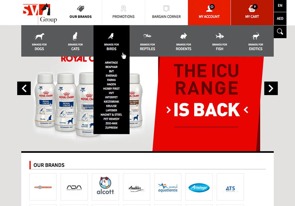 webdesign e-commerce Magento Saint Vincent Group SVG