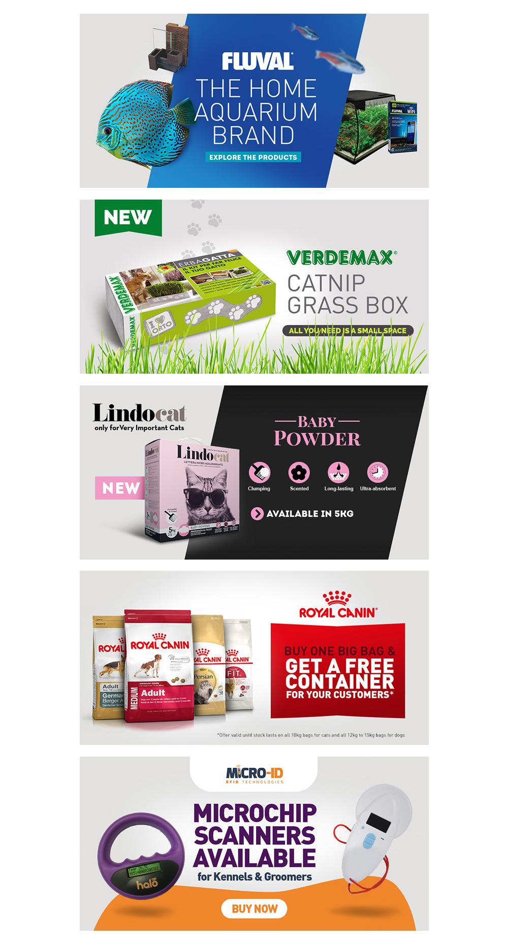 bannières promotionnelles pour e-commerce Saint Vincent Group SVG