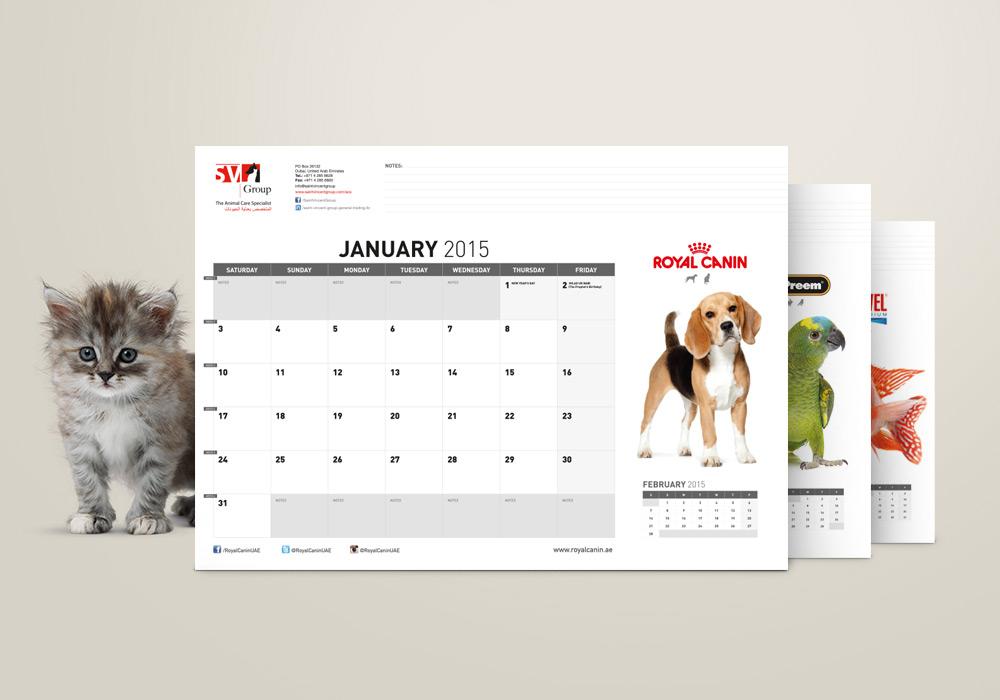 maquette calendrier Saint Vincent Group SVG